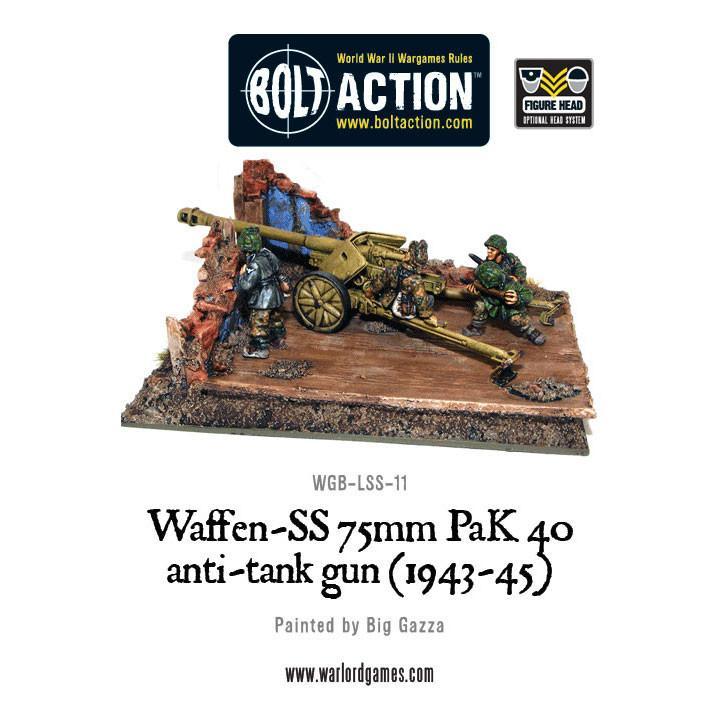 Waffen-SS 75mm PaK 40 anti-tank gun (1943-45)