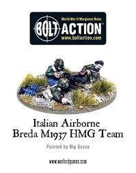 Italian Airborne Breda medium machine gun team