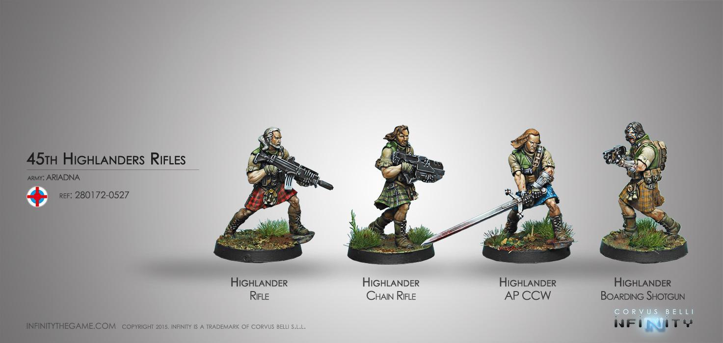 45th Highlander Rifles (Box of 4)