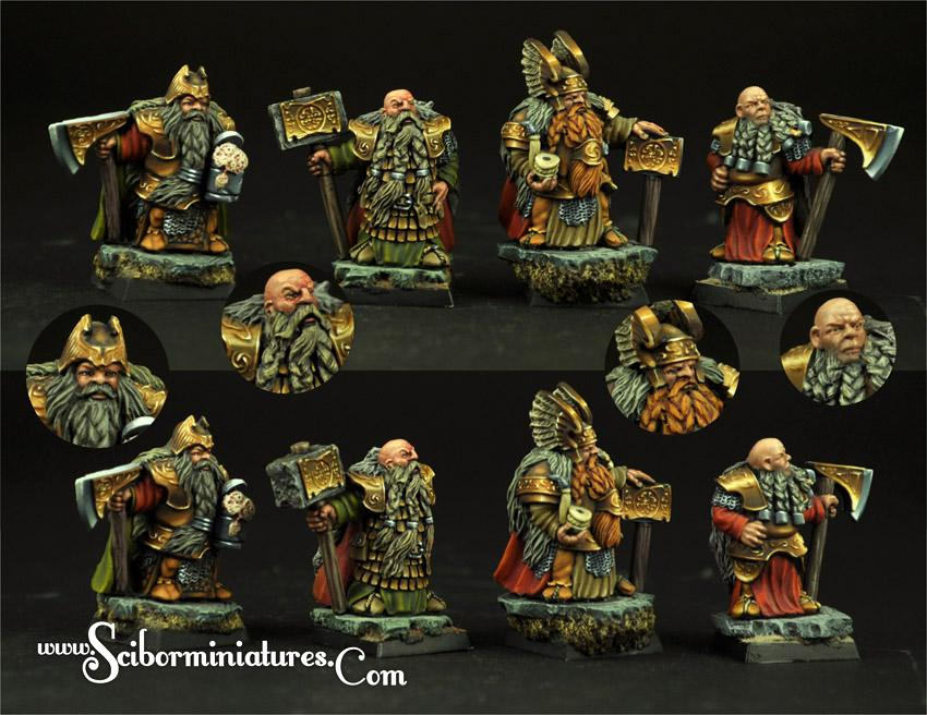 28mm/30mm Dwarves Lords set (4)