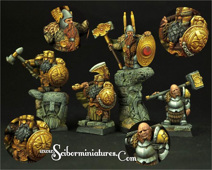 28mm/30mm Dwarves Lords set# 2 (4)
