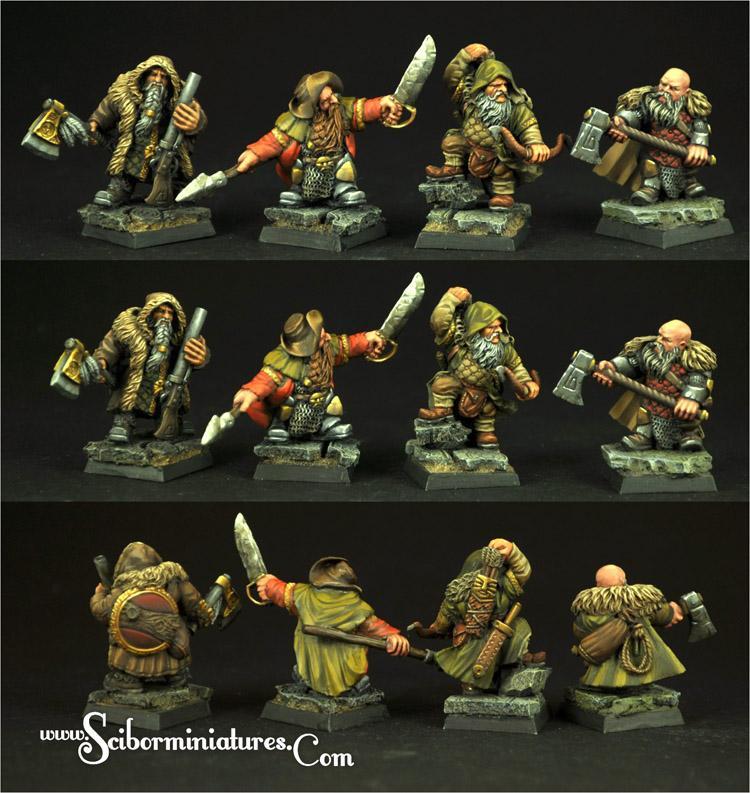 28mm/30mm Dwarves Rangers set (4)