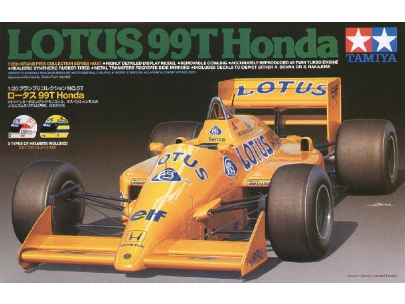 Lotus Honda 99T with Senna Helmet