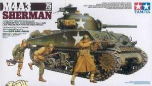 M4A3 Sherman w/75mm Gun & 3 figs.