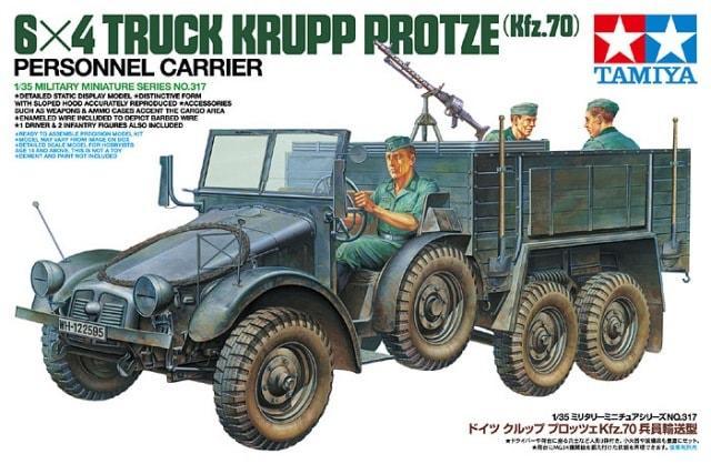 6x4 Krupp Protze Personnel Carrier