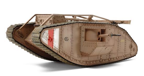 1/35 WWI British Mk IV Tank Male with motor