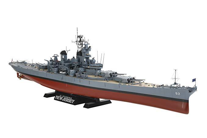New Jersey Battleship with detail parts