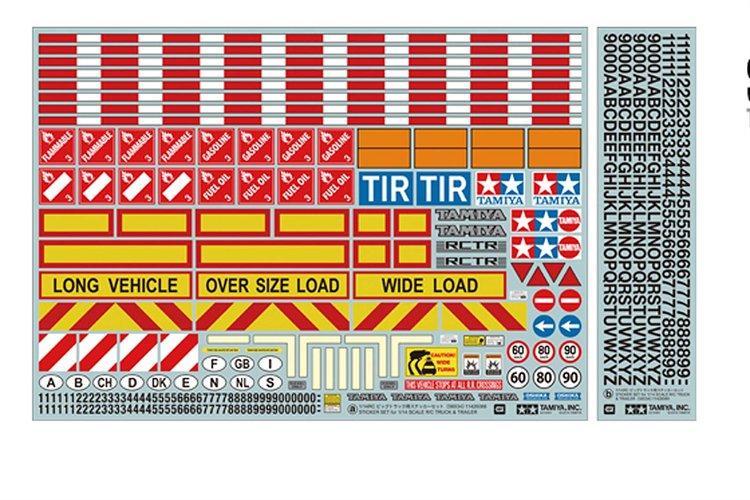 1/14 Truck / Trailer Sticker set