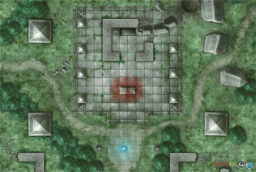 D&D: Jungle Temple Game Mat