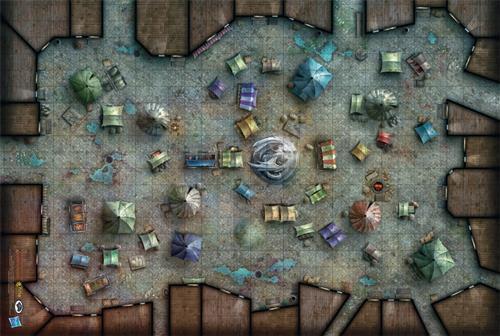 D&D: Merchant's Bazaar Vinyl Game Mat 20x 30