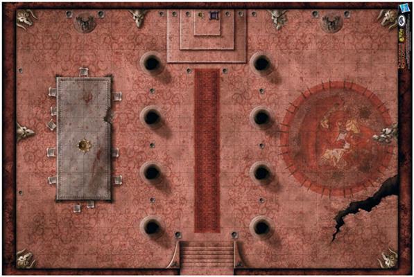 D&D: Red Hall of Vor Rukoth Vinyl Game Mat 20x 30