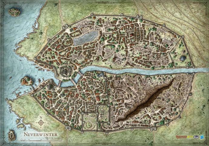 D&D: Neverwinter Campaign Map 30x42