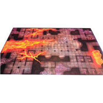 D&D: Temple of Fire Vinyl Game Mat 20x 30