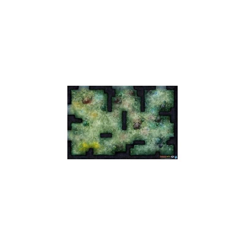 D&D: Fungal Cavern Vinyl Campaign Map 30 x 42
