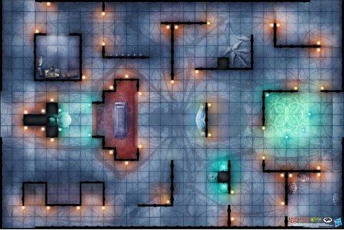 D&D: Temple of Lolth Vinyl Game Mat 20x 30