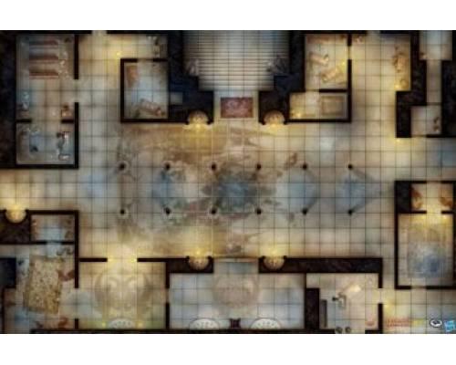 D&D: Draconic Monastery Vinyl Game Mat 20x 30
