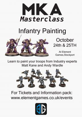 MKA Infantry Painting Model Masterclass October 24th & 25th