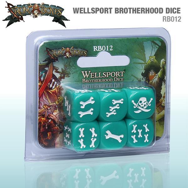 Wellsport Brotherhood Dice - Rum and Bones