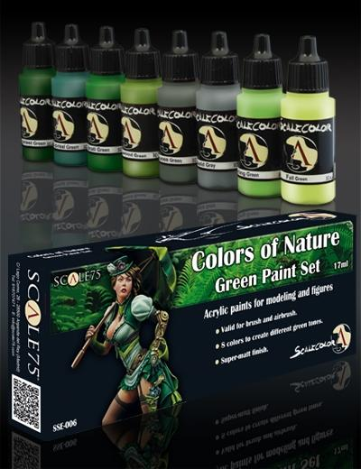 Colours of Nature: Green Paint Set