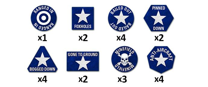 Team Yankee US Token Set (x22)