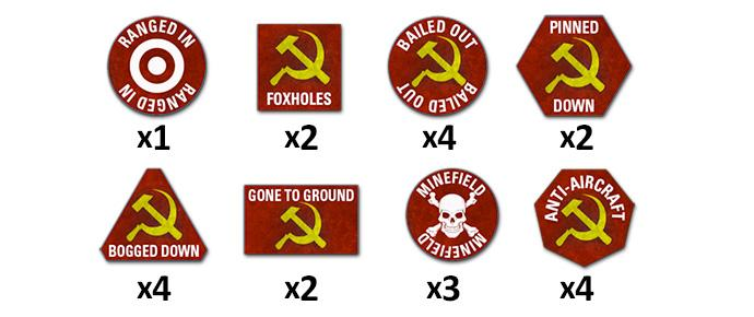 Team Yankee Soviet Token Set (x22)