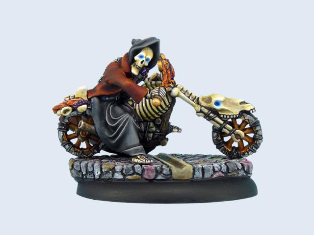 Discworld Miniature Death on motorcycle (1)