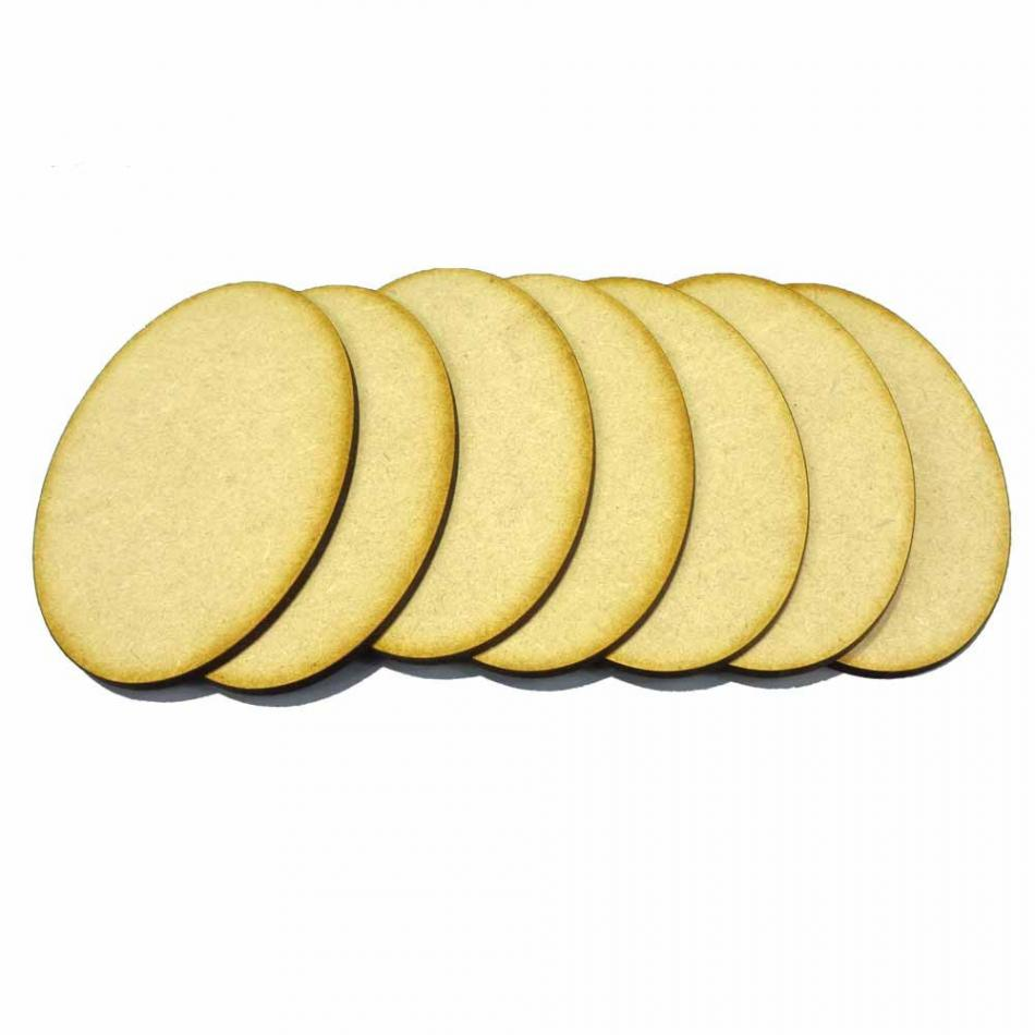7 x 105mm x 70mm Oval Bases