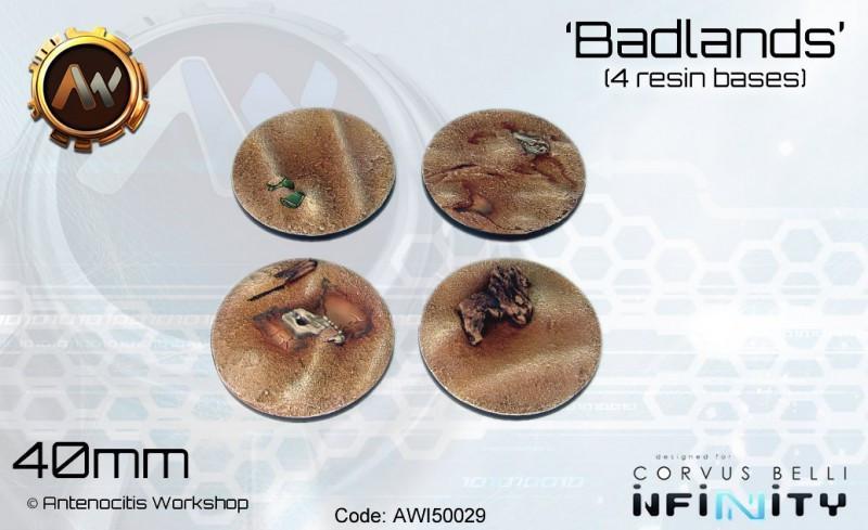 Badlands Bases 40mm