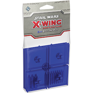 Blue Bases and Pegs Accessory: X-Wing Mini Game