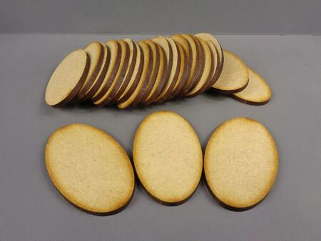 25 x 60mm x 35mm Oval Bases