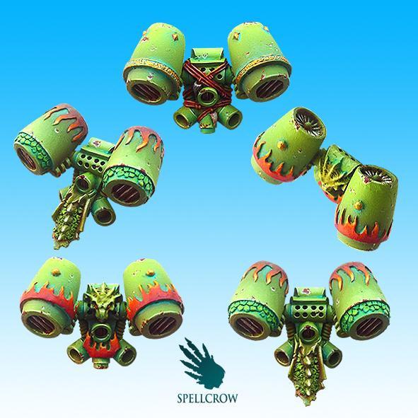 Salamander/Dragon Space Knights jump packs