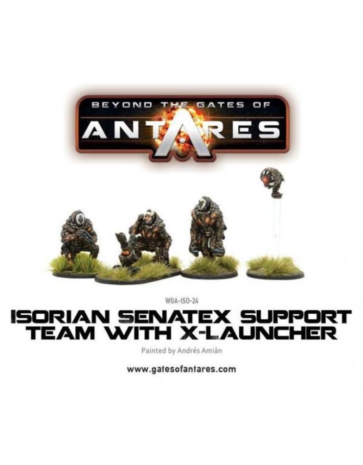 Isorian Senatax support team with X-Launcher