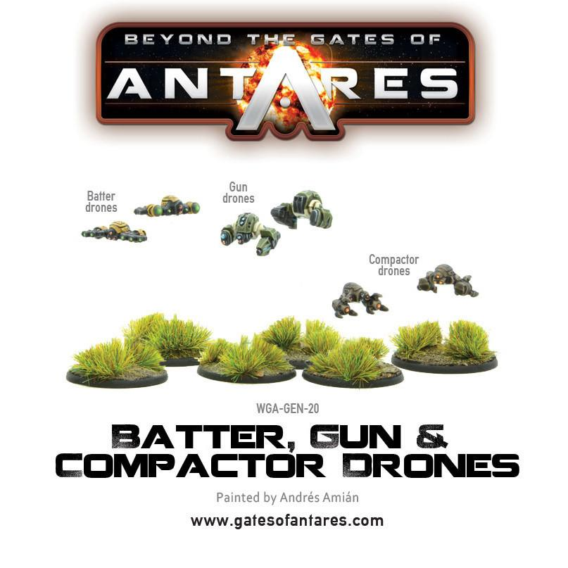 Batter, Gun and Compactor Drones