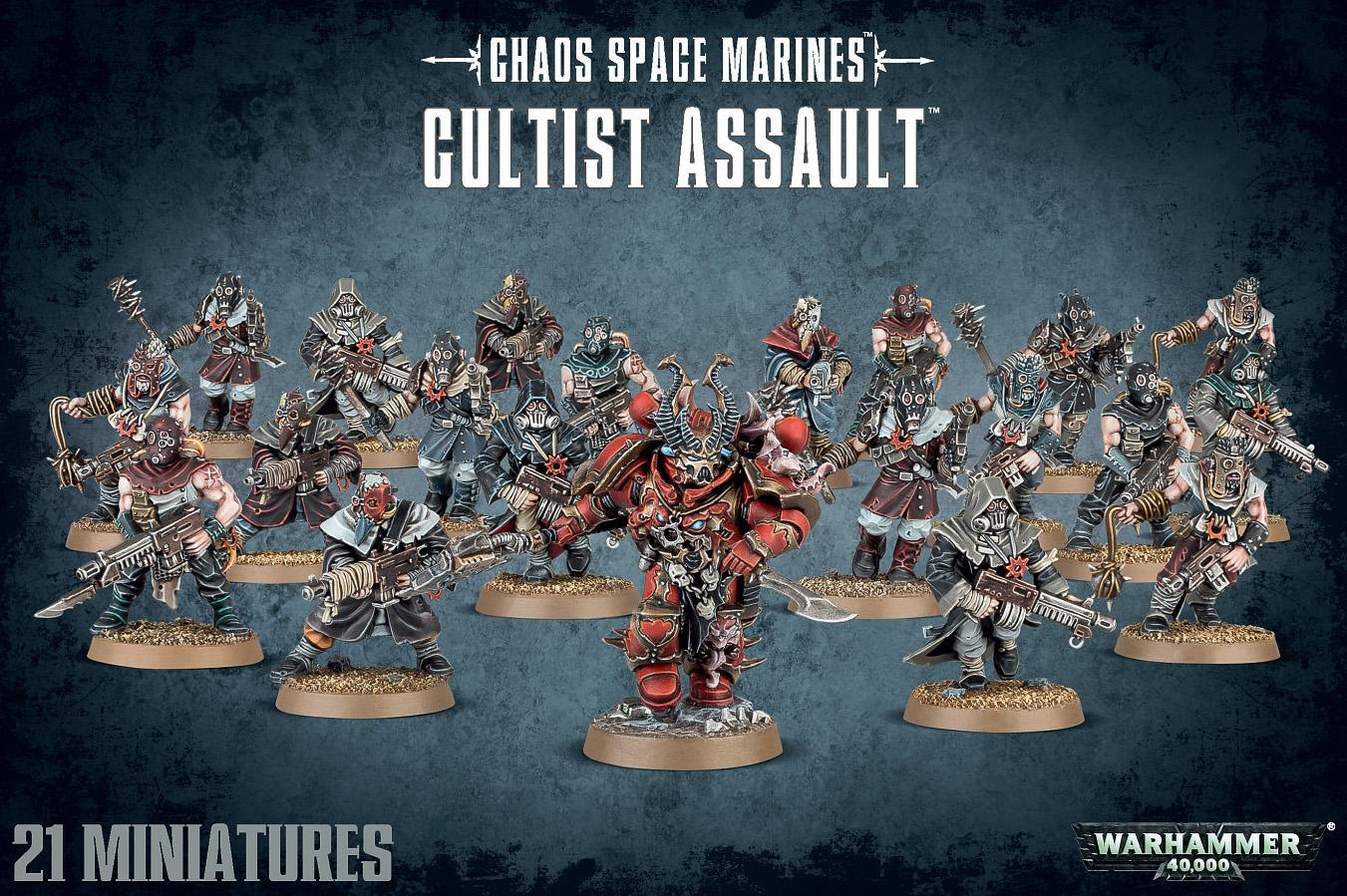 Chaos Space Marine Cultists Assault