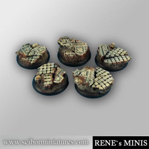 Templar Ruins 30mm round edges Bases