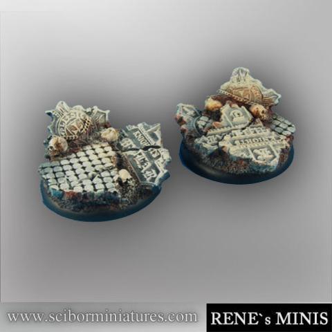 Templar Ruins 40mm round edges Bases