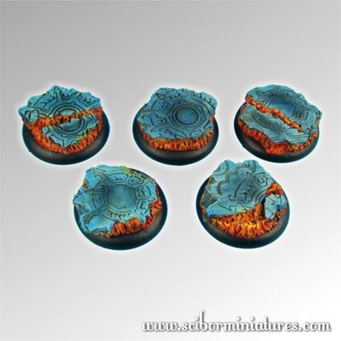 Straight from Hell 30mm round edge Bases (5)