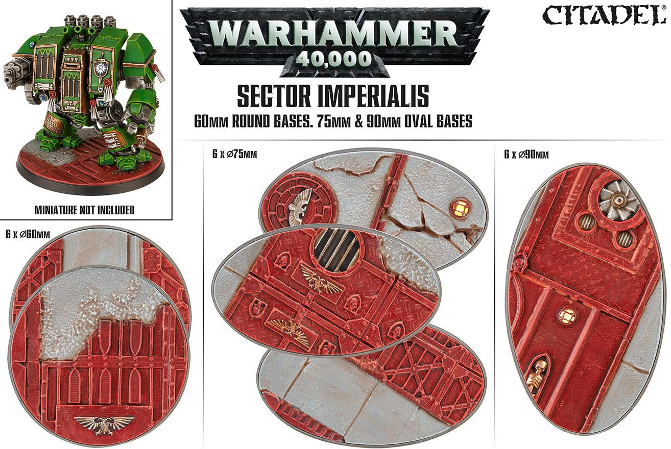 Sector Imperialis: 65/75/90mm Oval Bases