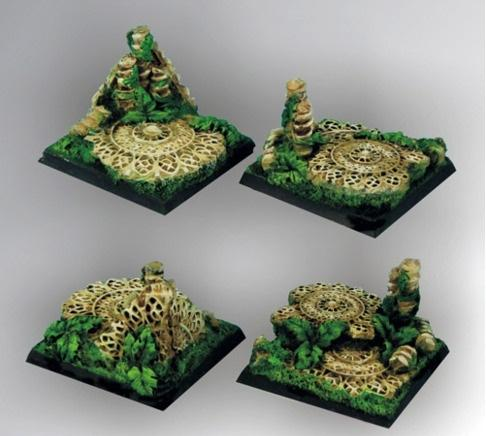 Elven Temple RuinsSquare Bases 40mm (2)