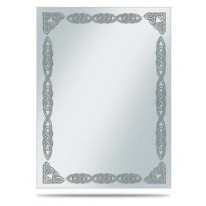 Silver Celtic Border: Printed Deck Protector Sleeve Covers