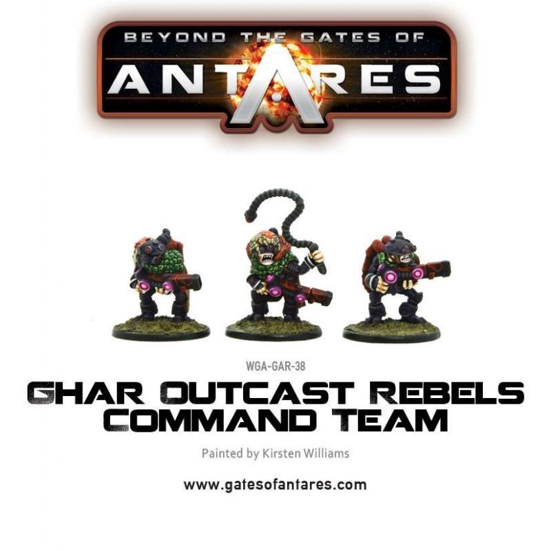 Ghar Outcast Rebels Command Team (3 Models)