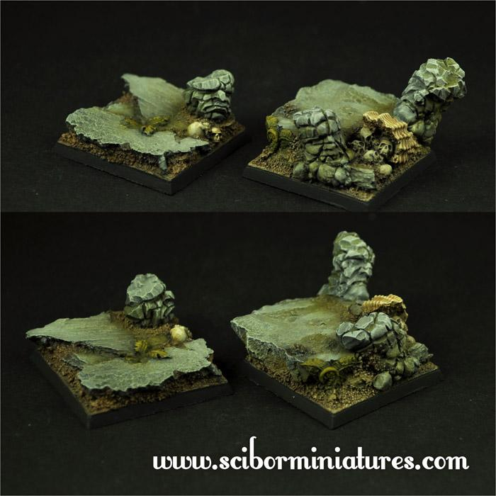 Rocky 40mm set3 square bases (2)