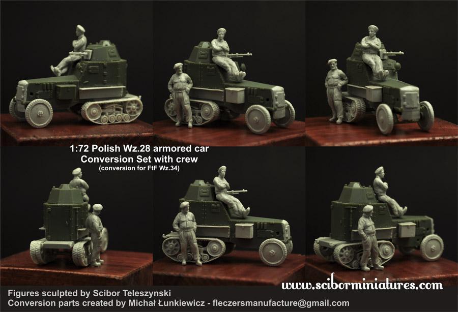 1:72 Polish Wz.28 Conversion with Crew