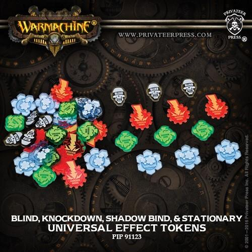Universal Effect Token Set: Blind, Knockdown, Shadow Bind, Stationary