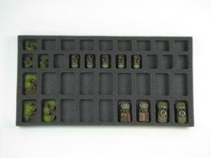 Flames of War 18 Troop 20 HQ Foam Tray (BFM) 15.5W x 8L x 1H