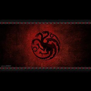 AGOT 2nd Edition: House Targaryen Playmat