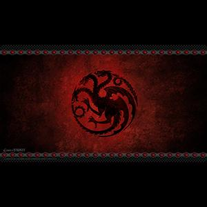 AGOT 2nd Edition: House Targaryen Playmat