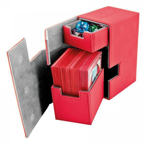 Flip'n'Tray Deck Case 80+ Standard Size XenoSkin Red