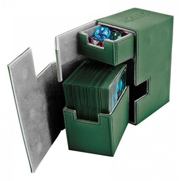 Flip'n'Tray Deck Case 80+ Standard Size XenoSkin Green