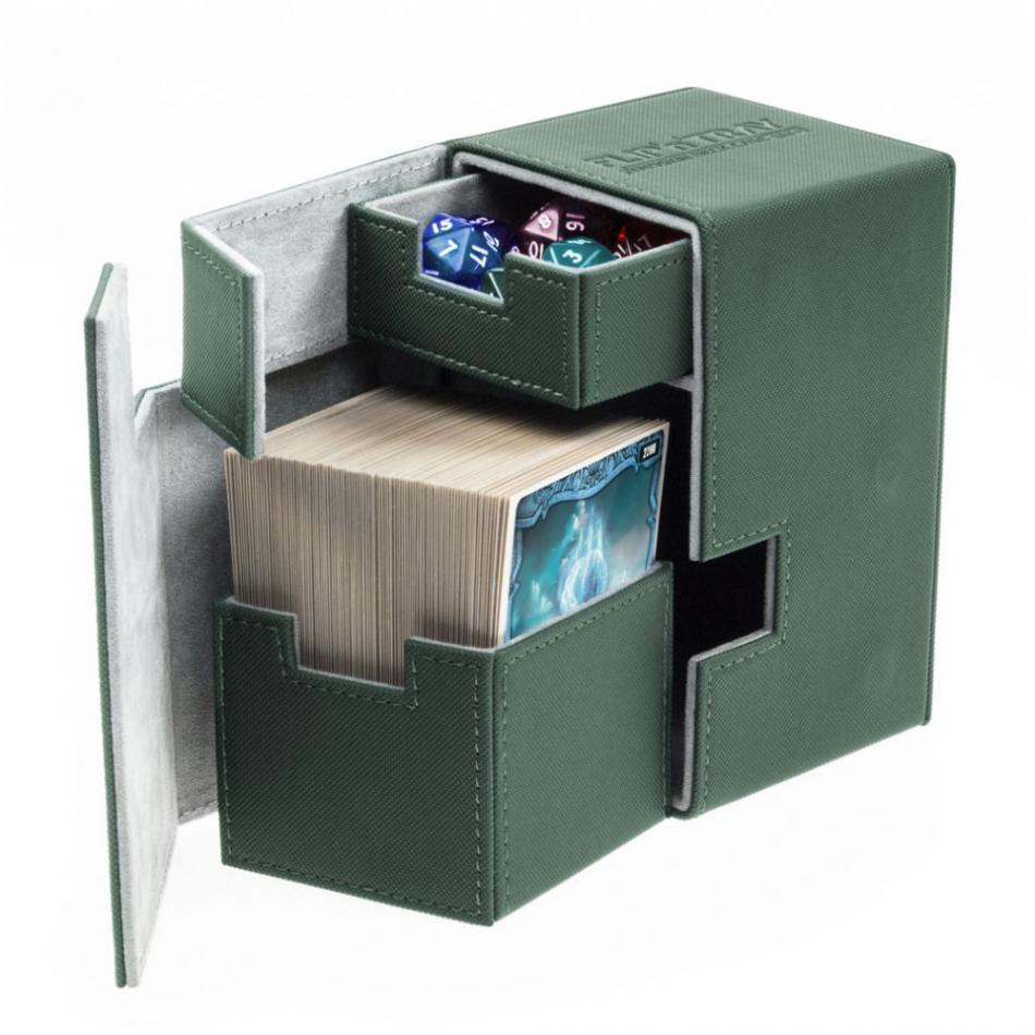 Flip'n'Tray Deck Case 100+ Standard Size XenoSkin Green